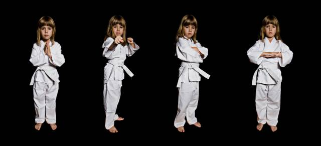 Karate teaches kids discipline, respect, and self defense.